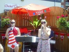 These two ladies performed various songs including hits from Leonard Cohen and selections from the TV series Glee during the Canada Day Celebration