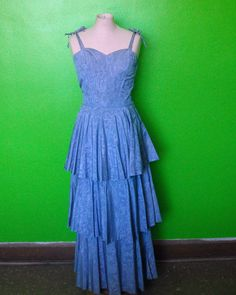 Periwinkle Blue Vintage 40s/WWII Swirl by MillerAndCampbell, $78.00