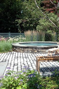 Outstanding Hot Tub Ideas To Create A Backyard Oasis Browse images of amazing hot tub designs and get some excellent tips and ideas to create your own relaxing backyard spa oasis. In Ground Spa, Above Ground Pool, In Ground Pools, Above Ground Swimming Pools, Sunken Hot Tub, Hot Tub Backyard, Backyard Pools, Oasis Backyard, Backyard Kitchen