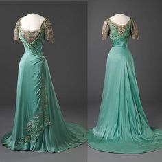 """""""Evening gown, written by Queen Maud of Norway, ca. 1909. National Museum of Art, Architecture, and Design Oslo """""""