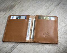 Hombres billetera cartera de bolsillo delantero Slim