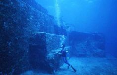 ruins discovered in gulf of mexico as deep as half mile below surface spanning an 8.3 mile area (larger than manhattan's island NYC) the underwater structures are believed to be more than 12,000 yrs old as that is when this region was above water.  discovered in 2008