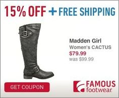 Tri Cities On A Dime: TAKE 15% OFF YOUR ENTIRE PURCHASE AT FAMOUS FOOTWE...