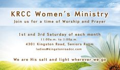 Invitation Cards for KRCC Women's Ministry.  #ChurchFlyer @Team Outreach