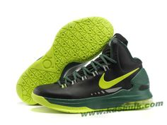 Nike Zoom KD V 5 Black Green Yellow Basketball Shoes