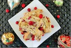 This cranberry almond biscotti recipe is perfect for the holidays! Biscotti are the best cookie for coffee and tea after dinner and this festive one won't disappoint.