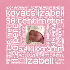Betűkép ajándék baba kislány baba születésére