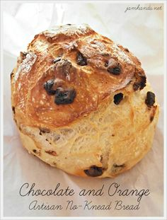 Chocolate and Orange Artisan No-Knead Bread.
