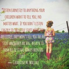 For kids and teens everything that happens is huge. Listen and talk. Shared via The Mind Unleashed FB page.