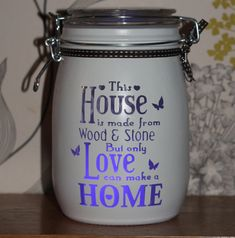 Personalised Glass Jar Love-Lite Jar This house by Itzastickup2010