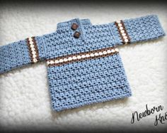 CROCHET PATTERN For Baby Boy or Girl Rippled Shawl by NewbornKnots