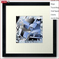 """Earthy"" is a unique design. glendobeart.com #glendobe #modern #unusial #blues"