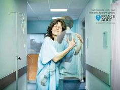 Advertising: Thousands of people owe their lives to organ donors. (Organ donor campaign from BBDO agency).