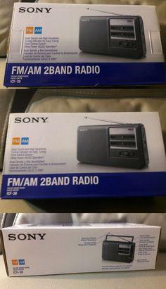 Portable AM FM Radios: Sony Fm / Am 2-Band Radio - Grey Icf-38 BUY IT NOW ONLY: $80.0
