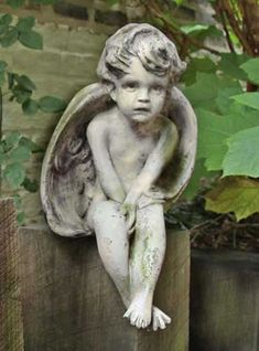 Awesome Cherub Outdoor Religious Garden Statue Statuary Made Of Faux  Concrete/Stone. Available In Ten