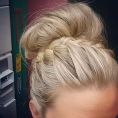 Braided bun..