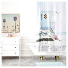 "Bree Madden Santa Cruz Summer Shower Curtain Blue (71""x"