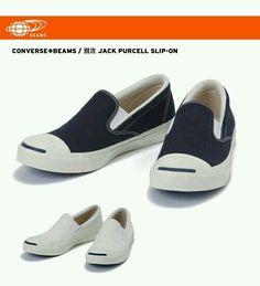 Next Kicks: Converse x Beams Jack Purcell Slip-on Converse Jack Purcell, Mens Fashion, Japan Fashion, Gentleman, Men's Shoes, Swag, Vans, Footwear, Slip On