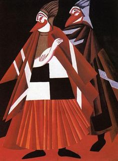 1917 Alexandra Exter - Los saduceos -diseño de vestuario a la tragedia de Oscar…