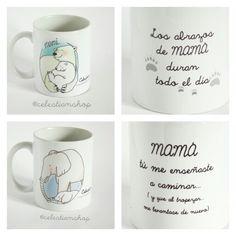 Tazas mamá oso y mamá elefante para el día de la madre! www.celestianshop.com