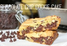 ~Chocolate Chip Cookie Cake!