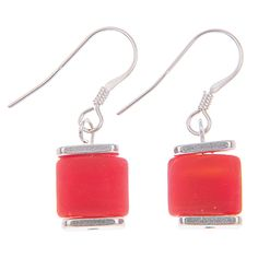 Carrie Elspeth - Red Luxe Earrings