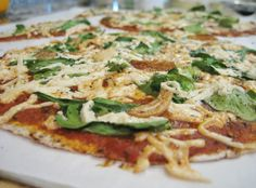 Roasted Garlic & Spinach Pizza