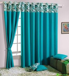 Turquoise Blue Curtains For Living Room Turquoise Curtains Living Room Fzowck Blue Curtains Living Room, Bedroom Drapes, Master Bedroom Interior, Home Curtains, Window Curtains, Blue Drapes, Blackout Curtains, Valance, Window Curtain Designs
