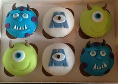 Monster inc cupcakes made by butterfly bakes of st Neots, uk