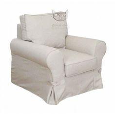 Beżowy fotel fartuchowiec - Adriano