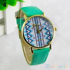 1c5f536f04b Couro relógio de pulso falso rombo das mulheres padrão de pulso analógico  Quartz relógio de pulso