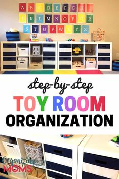 Steps that will help you get to an organized playroom with the toy storage you need today! Includes a free printable playroom clean-up checklist. Declutter Your Home, Organizing Your Home, Organizing Toys, Organizing Ideas, Organize Toy Rooms, Organize Kids, Toy Room Organization, Playroom Organization, Playroom Ideas