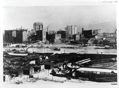 Downtown Pittsburgh skyline view, 1896 **neat to recognize things that are still here....Renaissance top far left**