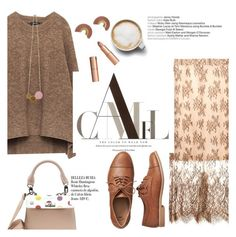 """""""CAMEL"""" by thepommier ❤ liked on Polyvore featuring Freda, Gap, Whiteley and Charlotte Tilbury"""