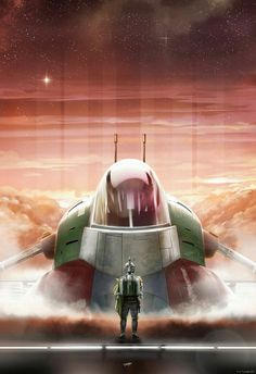 Movie Posters - Bottleneck Gallery - Star Wars - Boba Fett by Andy Fairhurst