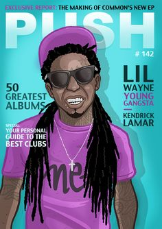 Designs for magazine covers on Bechance  Lil Wayne, Comic, Illustration • www.andreasdenzer.de
