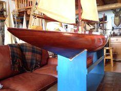 Spanish cedar deck , red cedar planked hull : E, Christibys