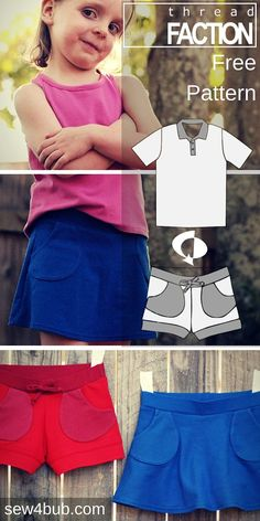 free short and skort pattern size 3