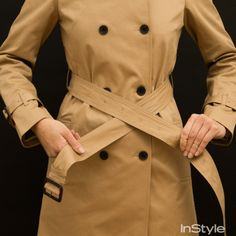 How to tie a front knot on your trench