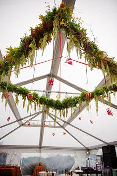 Floral Chandelier.  Design & Photography by: Soiree Floral