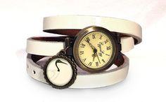 Skórzany zegarek Egipski ptak, 0635WW - EgginEgg - Zegarki