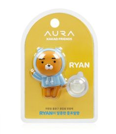 Kakao Talk Friends Cute Character Ver2 Car Vent Clip Air Freshener Ryan #KAKAOFRIENDS