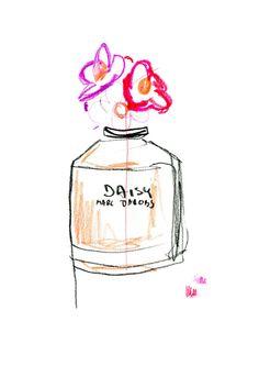 Marc Jacobs Daisy perfume illustrated by Karolina Pawelczyk