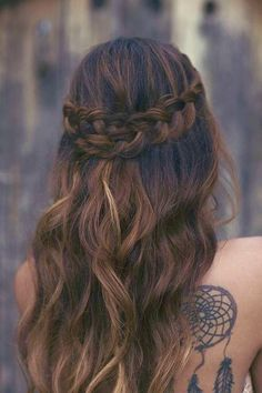Celtic Braids are forever beautiful on any bride! #weddinghairstyles #bohemian // @shopagstyle