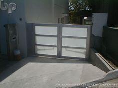 glass driveway gate