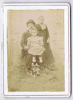 CDV Victorian Family in the Garden Carte de Visite Photograph in Collectables, Photographic Images, Antique (Pre-1940)   eBay