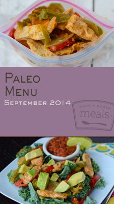 As autumn draws near our Paleo September 2014 Menu will add a little spice to your mealtime routine. With apple studded sausage patties, chorizo meatloaves, and spicy beef stew in the mix there's no room for bland food on your table. | Paleo September 2014 Menu | Once A Month Meals | OAMC | Freezer Cooking | Freezer Meals | Customized Shopping List | Custom Serving Menus | Pre-planned Menus | Customize your own!