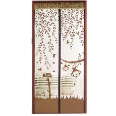 Prevent Mosquito Curtain Portiere Screen Door Magnetic Magnet Scenery Magic  Mesh