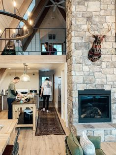 A-Frame cabin Don't wait to make time for fun–Even though we were renovating for most of it, as soon A Frame House Plans, Cozy Cabin, Cabin Loft, Cabin Interiors, Cabin Homes, Cabins In The Woods, Home Design, Design Design, Future House