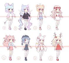 [OPEN 2/8] random adopt batch 2 by Seraphy-chan Character Design Girl, Character Design Animation, Character Design Inspiration, Character Art, Kawaii Drawings, Cute Drawings, Mery Chrismas, Hyanna Natsu, Cute Art Styles